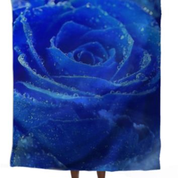 Blue Rose Silk Scarf created by ErikaKaisersot | Print All Over Me