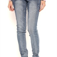 Amethyst Dark Sandblasted Bootcut Jeans with Bodycon Fit