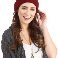 ModCloth Urban Practice What You Teach Hat in Wine