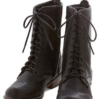 ModCloth French Tips for Travel Boot in Black