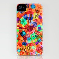 Mosaic Gems Orange iPhone Case by gretzky | Society6