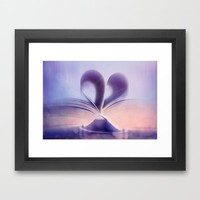 Heart 2 Framed Art Print by NOVEMBERKIND Flowerdreams | Society6