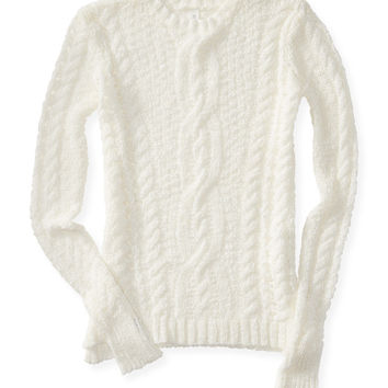Aeropostale  Cabled Open-Knit Sweater