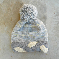 Winter Gray Knit Beanie [6438] - $14.40 : Vintage Inspired Clothing & Affordable Dresses, deloom | Modern. Vintage. Crafted.