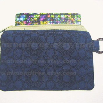 Majestic Blue zippered coin purse id1330722, zip purse, change purse, card wallet, cosmetic toiletry pouch sewing stitch accessories id work