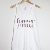FOREVER YOUNG - American Apparel Unisex  Fine Jersey Tank Top