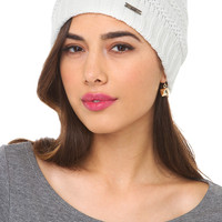 Beanie with Pom in Ivory