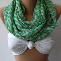 ON SALE  Infinity Scarf Loop Scarf Circle Scarf - Elegant - It made with good quality chiffon fabric - Super Loop
