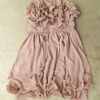 Gathered Ruffles Party Dress [3123] - $36.00 : Vintage Inspired Clothing & Affordable Summer Dresses, deloom | Modern. Vintage. Crafted.