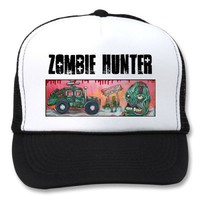 Zombie Hunter Mesh Hats from Zazzle.com