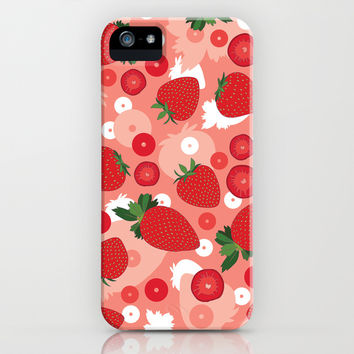 Strawberry iPhone & iPod Case by Ornaart
