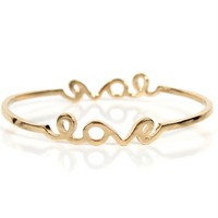 Gold Love Signature Bracelet