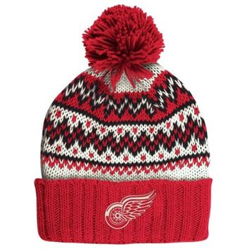 Detroit Red Wings CCM Women's Cuffed Current Knit Hat – Red