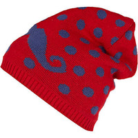 dark red moustache beanie hat