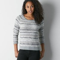 AEO SHIMMER STRIPED SWEATER
