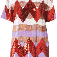 Zigzag Sequin Dress By Louise Gray - Edited  - New In