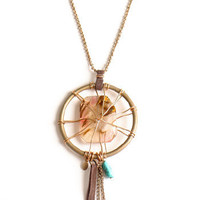 Dream Catcher Indie Necklace - $40.00: ThreadSence, Women's Indie & Bohemian Clothing, Dresses, & Accessories