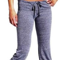 Cotton Lycra Yoga Legging Capri Tight Pants with Drawstring, Junior Sizes S-M-L, 4 Colors.