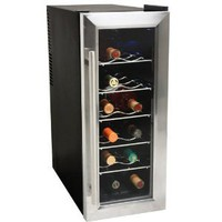 Amazon.com: EdgeStar 12 Bottle Slim-Fit Wine Cooler - Stainless Steel Trim Door: Kitchen & Dining