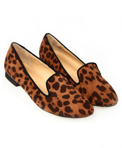 Suede Leopard Print Point Flat Shoes From Chicnova.com | Footwear