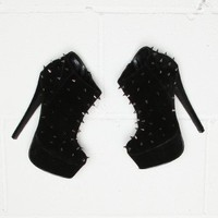Missguided - Suede Spiked Ankle Boots