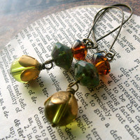 absinthe beaded bohemian earrings