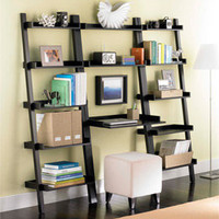The Container Store  Linea Leaning Desk & Bookcases