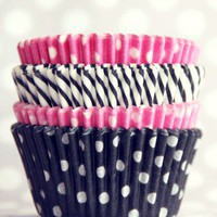 Pink and Black Cupcake Liner Mix - Shop Sweet Lulu