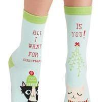 All I Want For Christmas Women's Crew Socks by Sock it To Me