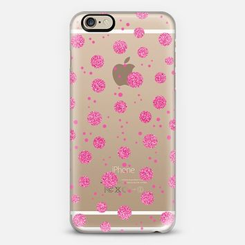 Pink Sparkle Polka Dots iPhone 6 case by Sandra Arduini | Casetify