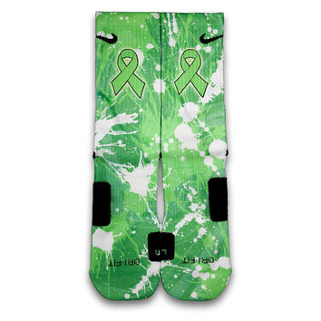 Non Hodgkin's Lymphoma Custom Elite Socks