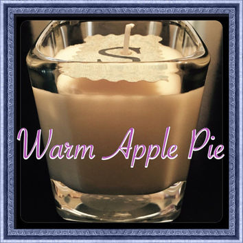 Warm Apple Pie Scented Soy Candles