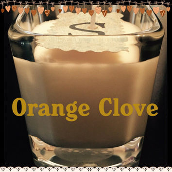 Orange Clove Scented Soy Candles
