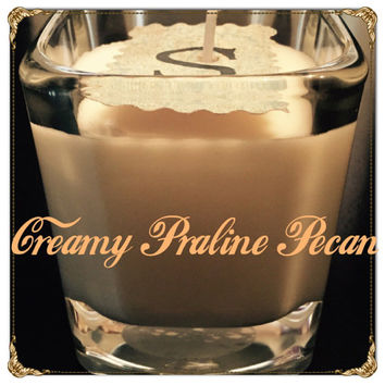 Creamy Praline Pecan Scented Soy Candles