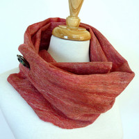 Pink Wool Scarf. Raspberry. Felted Fashion