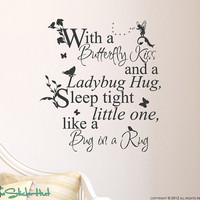 Fairy Tale With a Butterfly Kiss Sticky Vinyl Wall Accent Art Words Stickers Decals 1332