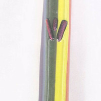 Rainbow / Pride Fused glass handmade Mezuzah mezuza by Dalit Glass