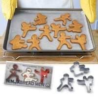 Ninja Bread Men Ginger Bread Cookie Cutters - Whimsical &amp; Unique Gift Ideas for the Coolest Gift Givers