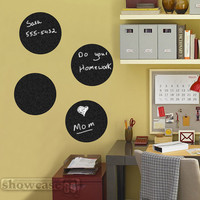 Chalkboard Circles Set  - Vinyl Wall Art - FREE Shipping - Fun Organizing Blackboard Wall Decal