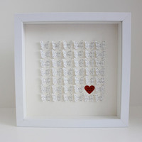Unique wedding engagement gift frame : 3d framed wedding heart butterfly artwork / unique engagement gift / Bride Groom wedding gift