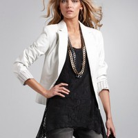 Leather Girlfriend Blazer at Newport-News.com
