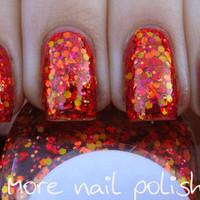 Muy Caliente Hand made custom nail polish