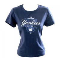 NY New York Yankees MLB Girl Fit Tee T-Shirt Women's Size Small (S) Brand New!