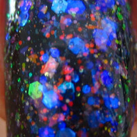 A Theory Of Everything: Hand Mixed Flakie Glitter Color shift Nail Polish Full size .5 oz Coco Allure
