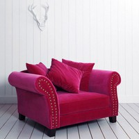 Melton XL Armchair in Velvet