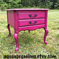 Magenta Night Stand/ Made to Order Paint Color &amp; Finish