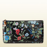 Gucci - flora knight print leather pouch 338815A791G1000