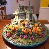 Hagrid's Hut and the Hippogryph birthday cake