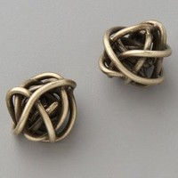 Kelly Wearstler Brass Knot Earrings | SHOPBOP