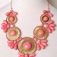 Roman Empire Necklace in Rose | Peacock Plume